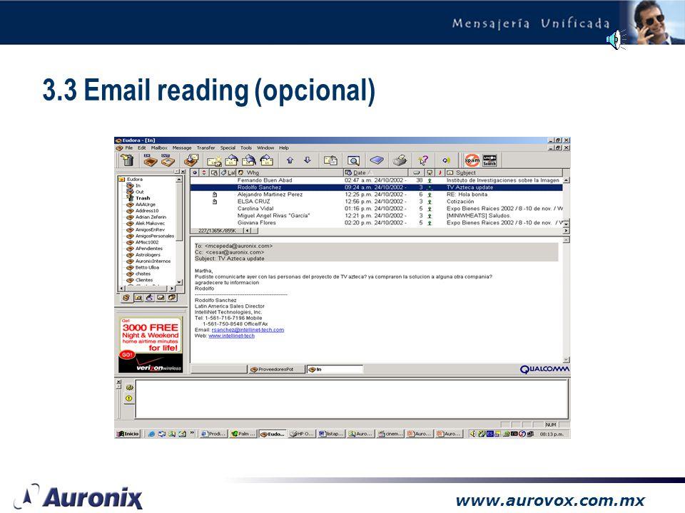 www.aurovox.com.mx Todas sus comunicaciones en un solo lugar: –Voz y fax accesibles desde la bandeja de entrada del correo electrónico –Correo electró
