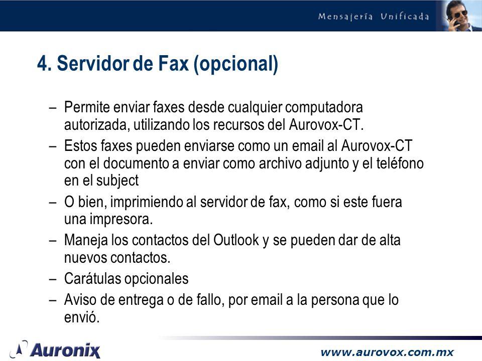 www.aurovox.com.mx 3.3 Email reading (opcional)