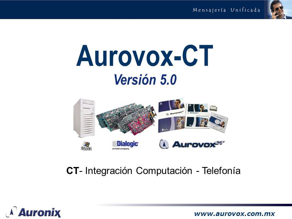 www.aurovox.com.mx Sus comunicaciones en un solo lugar: –permite recibir los mensajes de voz en como archivos adjuntos de un correo electrónico en formato wav o vox, permitiendo escucharlos con un simple click del mouse, desde cualquier parte del mundo.