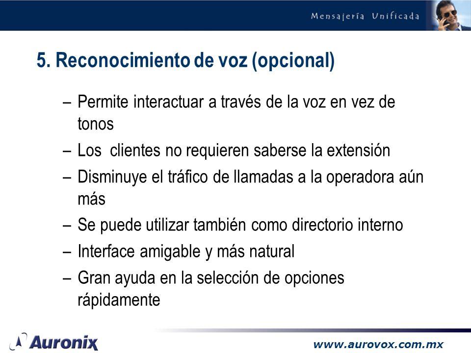 www.aurovox.com.mx –Permite enviar faxes desde cualquier computadora autorizada, utilizando los recursos del Aurovox-CT. –Estos faxes pueden enviarse
