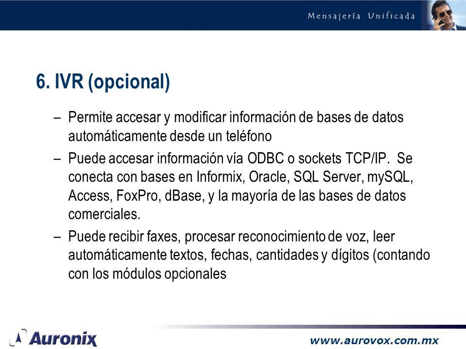www.aurovox.com.mx El texto a voz es una poderosa tecnología que puede utilizarse para leer correo electrónico, noticias e información de bases de dat