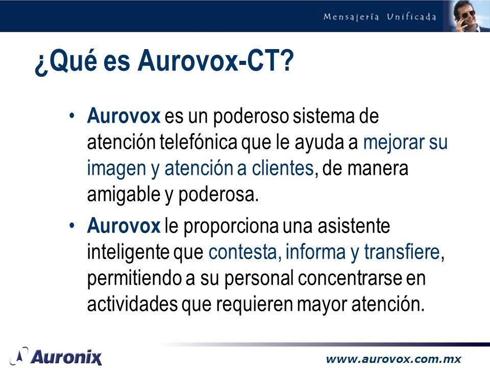 www.aurovox.com.mx 3.1 Mensajería Unificada solo Voz (opcional)