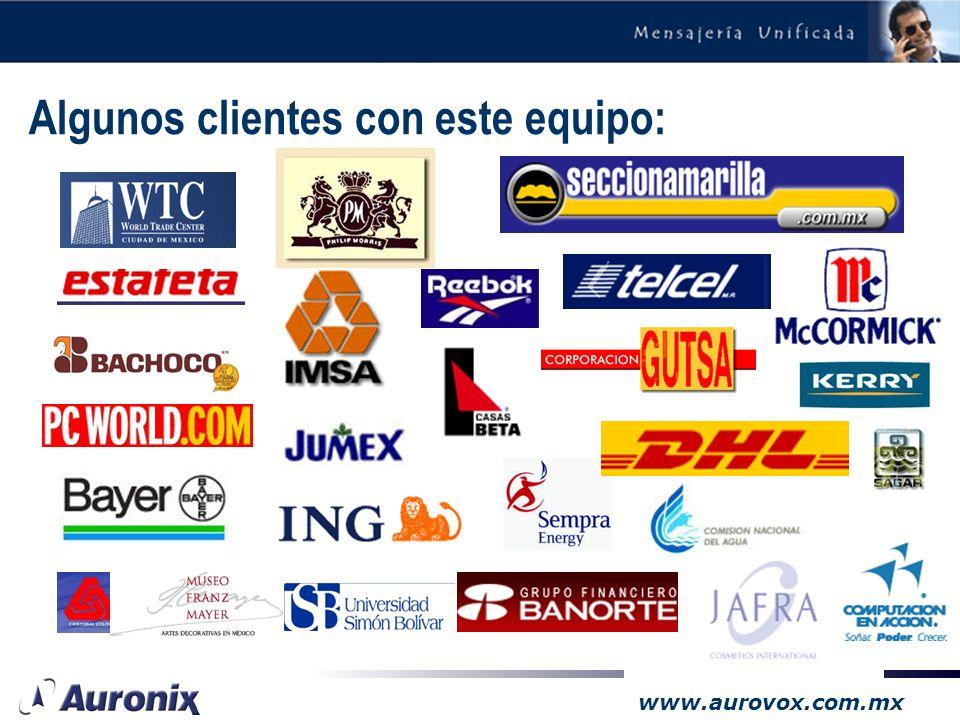www.aurovox.com.mx Aurovox-CT Objetivo: –Simular una secretaria virtual para cada empleado de la empresa, a muy bajo costo: Toma recados Proporciona i