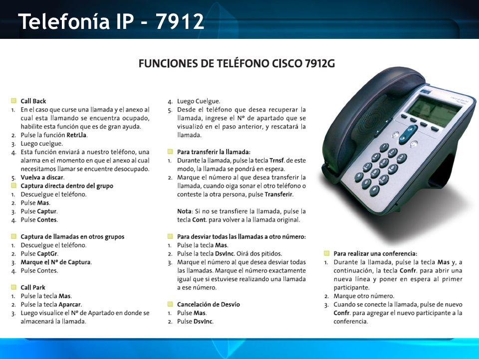 Telefonía IP - 7912