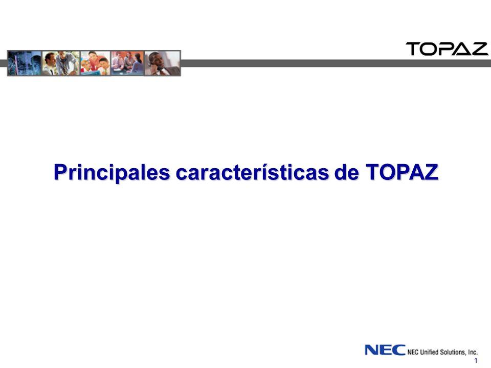1 Principales características de TOPAZ