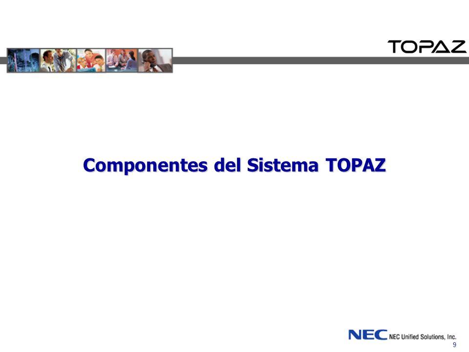 9 Componentes del Sistema TOPAZ