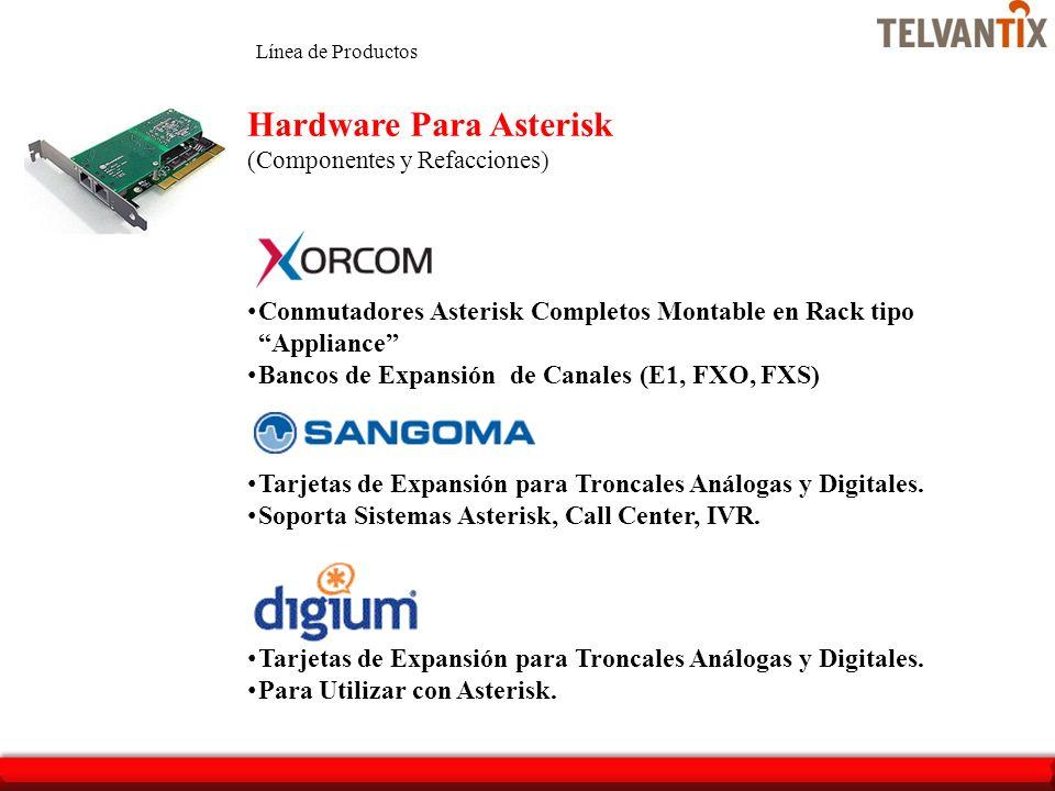 Conmutadores Asterisk Completos Montable en Rack tipo Appliance Bancos de Expansión de Canales (E1, FXO, FXS) Hardware Para Asterisk (Componentes y Re