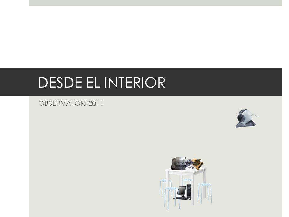 DESCRIPCIÓN Aprovechando el marco del Festival Observatori 2011, la propuesta quiere darvoz y visibilidad generando un espacio de participación para los internos dentro de un contexto artístico/cultural.