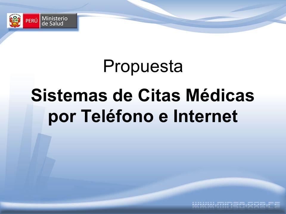 Propuesta Sistemas de Citas Médicas por Teléfono e Internet