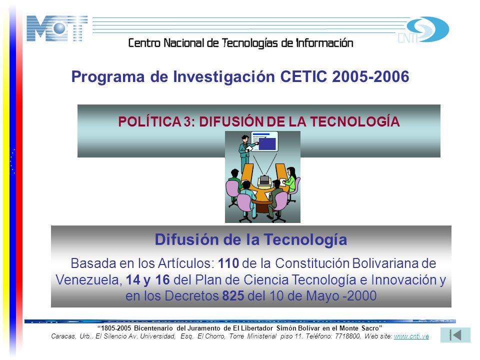 25 1805-2005 Bicentenario del Juramento de El Libertador Simón Bolívar en el Monte Sacro Caracas, Urb.. El Silencio Av. Universidad, Esq. El Chorro, T