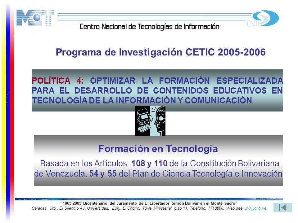 26 1805-2005 Bicentenario del Juramento de El Libertador Simón Bolívar en el Monte Sacro Caracas, Urb.. El Silencio Av. Universidad, Esq. El Chorro, T