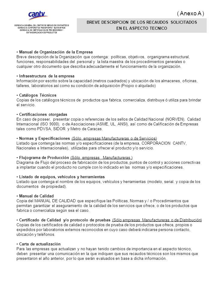 Manual de Organización de la Empresa Breve descripción de la Organización que contenga: políticas, objetivos, organigrama estructural, funciones, resp