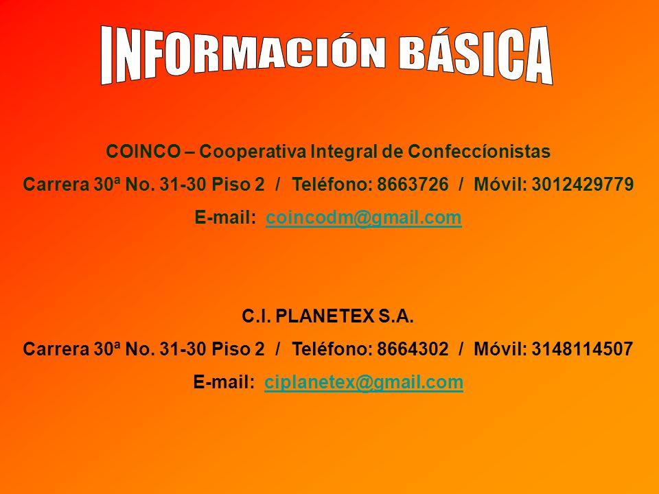 COINCO – Cooperativa Integral de Confeccíonistas Carrera 30ª No.
