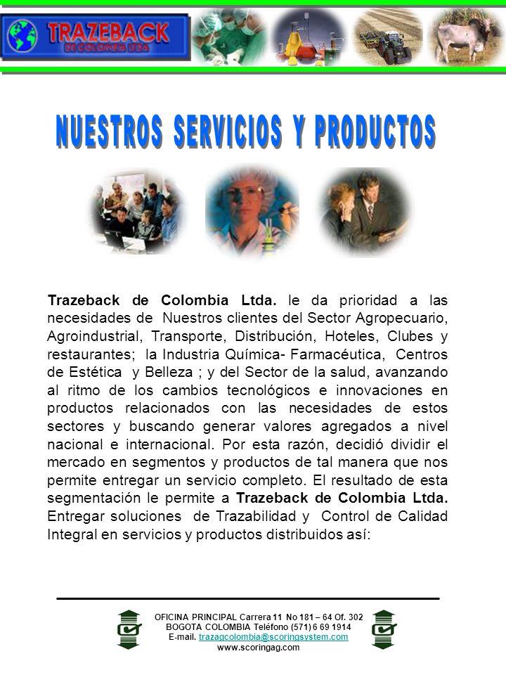 Trazeback de Colombia Ltda. le da prioridad a las necesidades de Nuestros clientes del Sector Agropecuario, Agroindustrial, Transporte, Distribución,