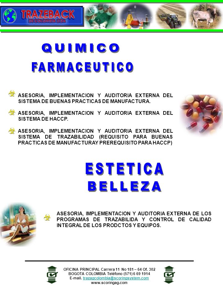 ASESORIA, IMPLEMENTACION Y AUDITORIA EXTERNA DEL SISTEMA DE BUENAS PRACTICAS DE MANUFACTURA. ASESORIA, IMPLEMENTACION Y AUDITORIA EXTERNA DEL SISTEMA