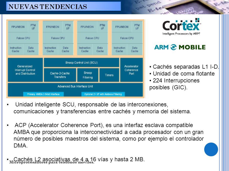 Unidad inteligente SCU, responsable de las interconexiones, comunicaciones y transferencias entre cachés y memoria del sistema. ACP (Accelerator Coher