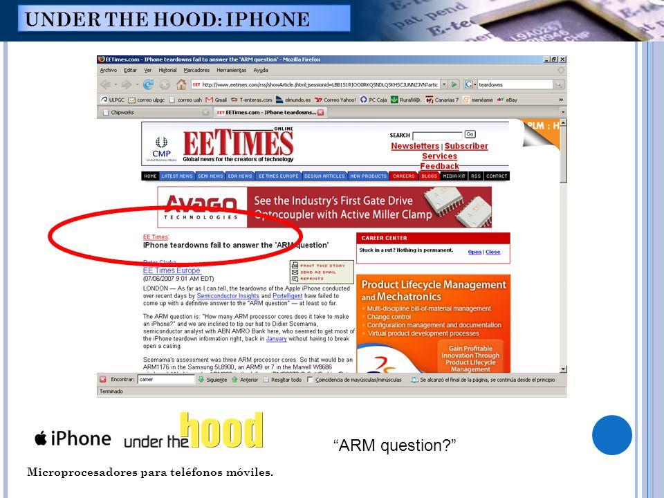 Microprocesadores para teléfonos móviles. UNDER THE HOOD: IPHONE ARM question?