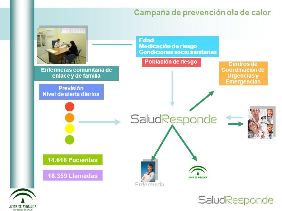 Enfermeras comunitaria de enlace y de familia Población de riesgo Edad Medicación de riesgo Condiciones socio sanitarias Previsión Nivel de alerta dia