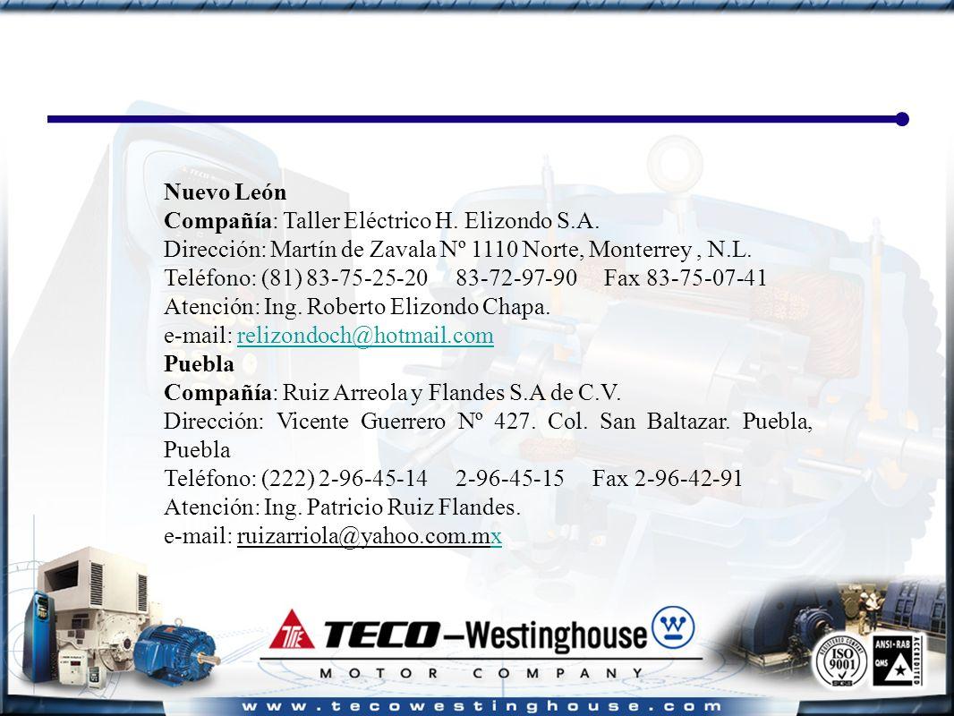 Nuevo León Compañía: Taller Eléctrico H. Elizondo S.A.