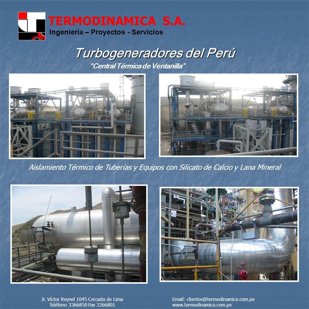 TERMODINAMICA S.A.Ingeniería – Proyectos - Servicios San Fernando S.A.