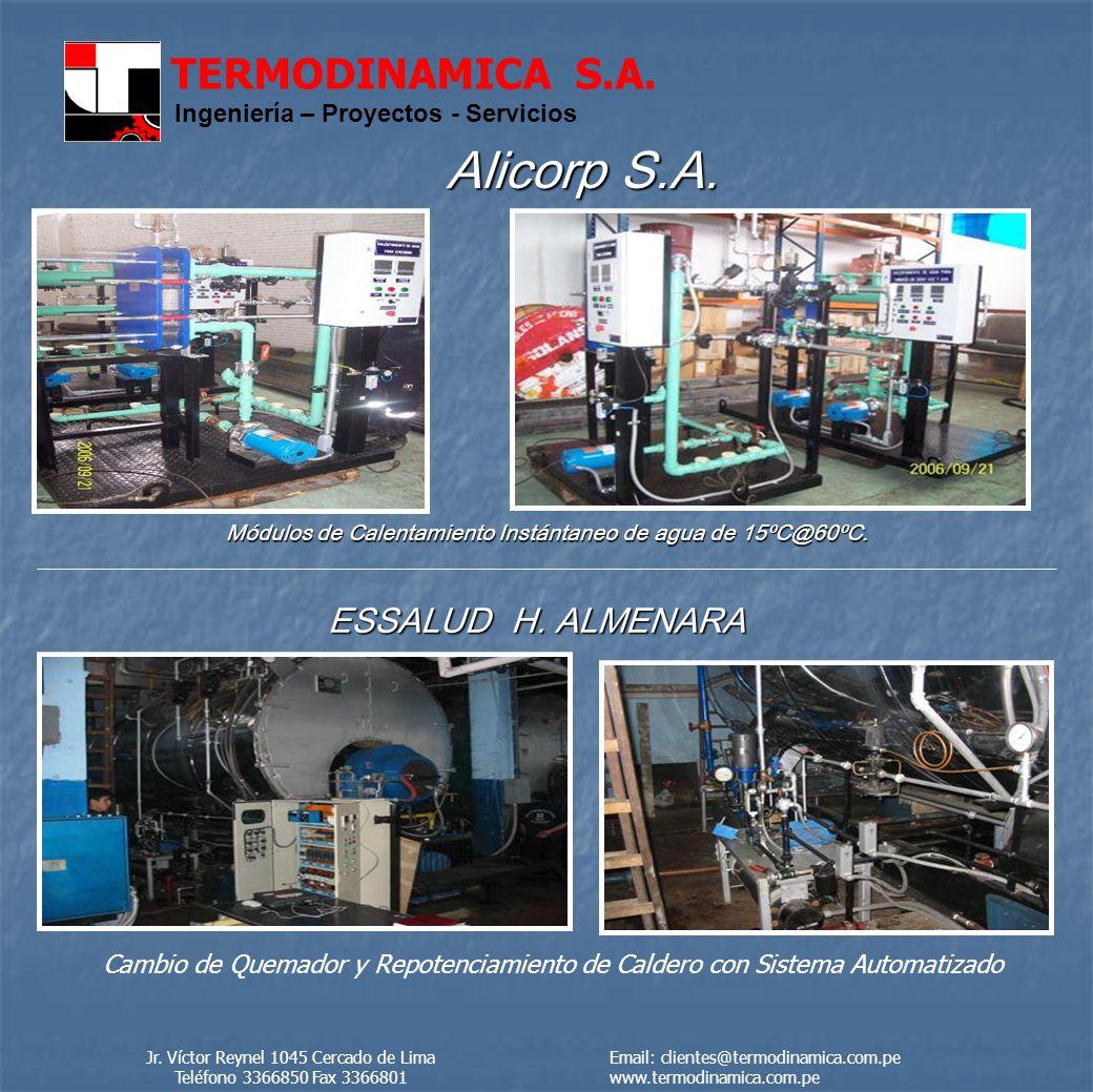 TERMODINAMICA S.A.Ingeniería – Proyectos - Servicios Alicorp S.A.