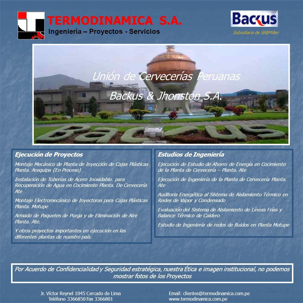 TERMODINAMICA S.A.Ingeniería – Proyectos - Servicios AJEPER S.A.