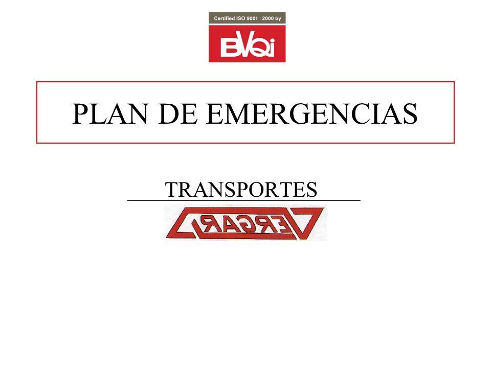 PLAN DE EMERGENCIAS TRANSPORTES