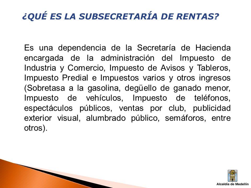 ¿QUIÉNES COMPONEN LA SUBSECRETARÍA DE RENTAS.