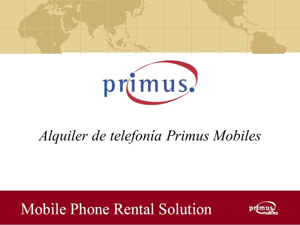 Alquiler de telefonía Primus Mobiles