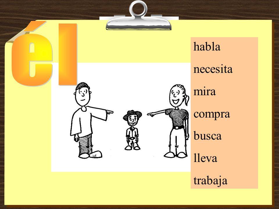 Yo _______ con mi amigo Juan. hablohablashabla
