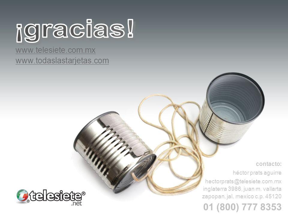 www.telesiete.com.mx www.todaslastarjetas.com contacto: héctor prats aguirre hectorprats@telesiete.com.mx inglaterra 3986, juan m. vallarta zapopan, j