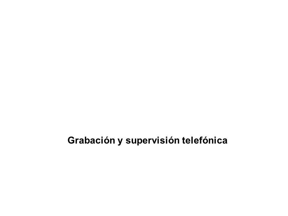 Grabación y supervisión telefónica