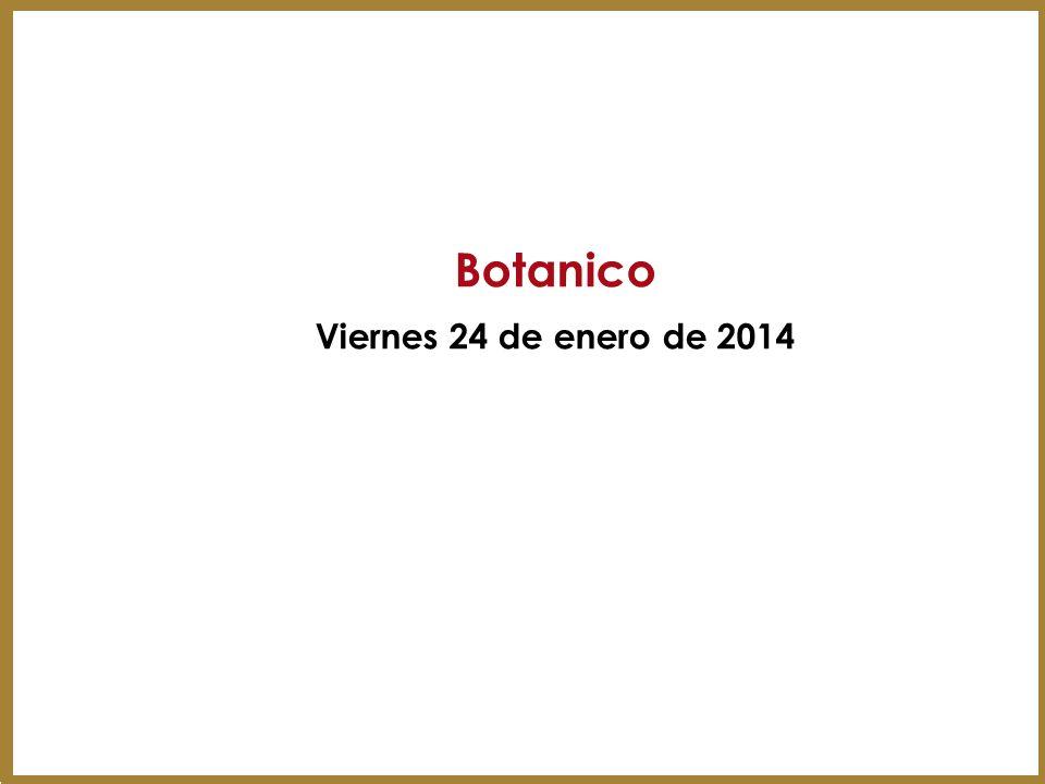 Botanico Viernes 24 de enero de 2014
