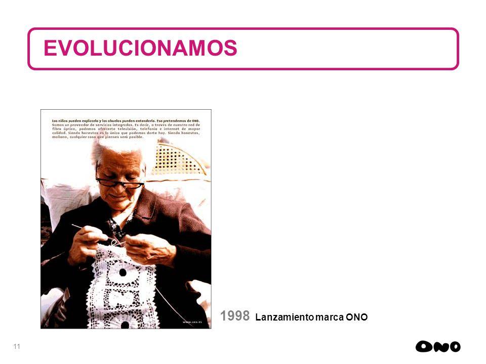 11 1998 Lanzamiento marca ONO EVOLUCIONAMOS