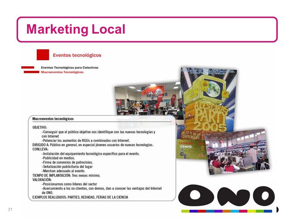 31 Marketing Local XX,XX /mes
