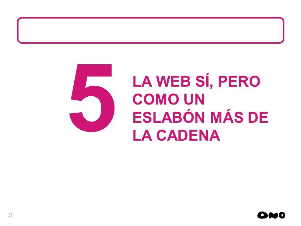 37 5 LA WEB SÍ, PERO COMO UN ESLABÓN MÁS DE LA CADENA