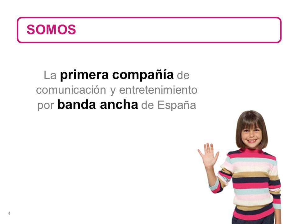 4 La primera compañía de comunicación y entretenimiento por banda ancha de España SOMOS