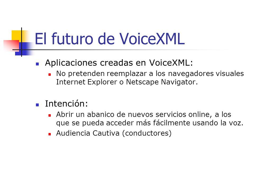 IBMs Voice Server Con VoiceXML, al utilizar un servidor de voz no se requiere de un teléfono con tecnología WAP