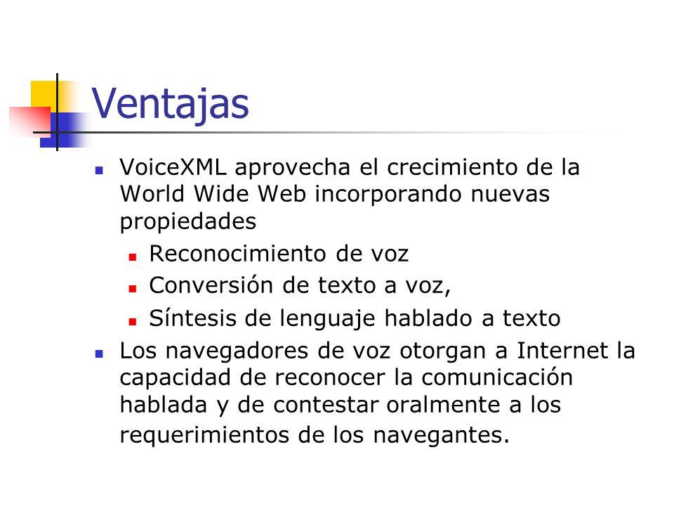 Múltiples usos de VoiceXML