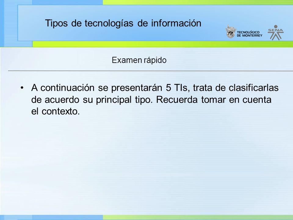 Tipos de tecnologías de información Jumpdrive (memoria USB) BIEN.