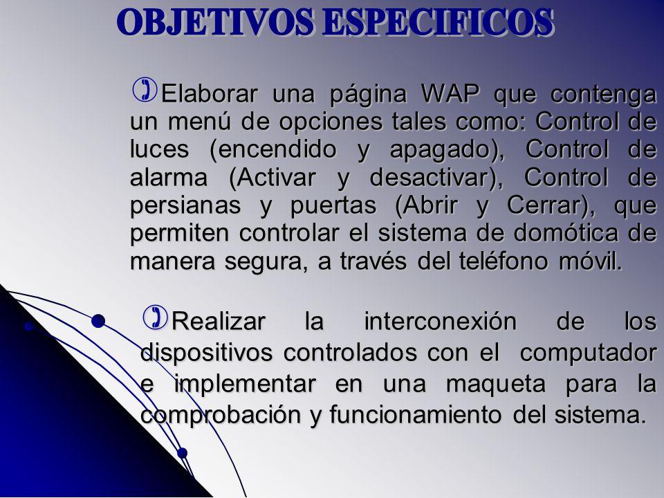 Realizar la interconexión de los dispositivos controlados con el computador e implementar en una maqueta para la comprobación y funcionamiento del sistema.