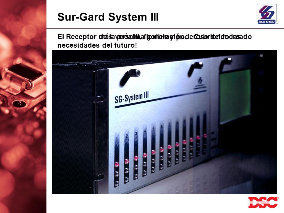 Sur-Gard System III El Receptor de la próxima generación… Cubriendo las necesidades del futuro! El Receptor más versatil, flexible y poderoso del merc
