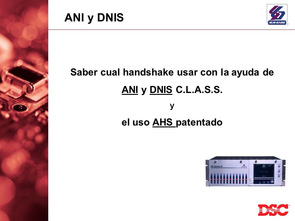Saber cual handshake usar con la ayuda de ANI y DNIS C.L.A.S.S. y el uso AHS patentado ANI y DNIS