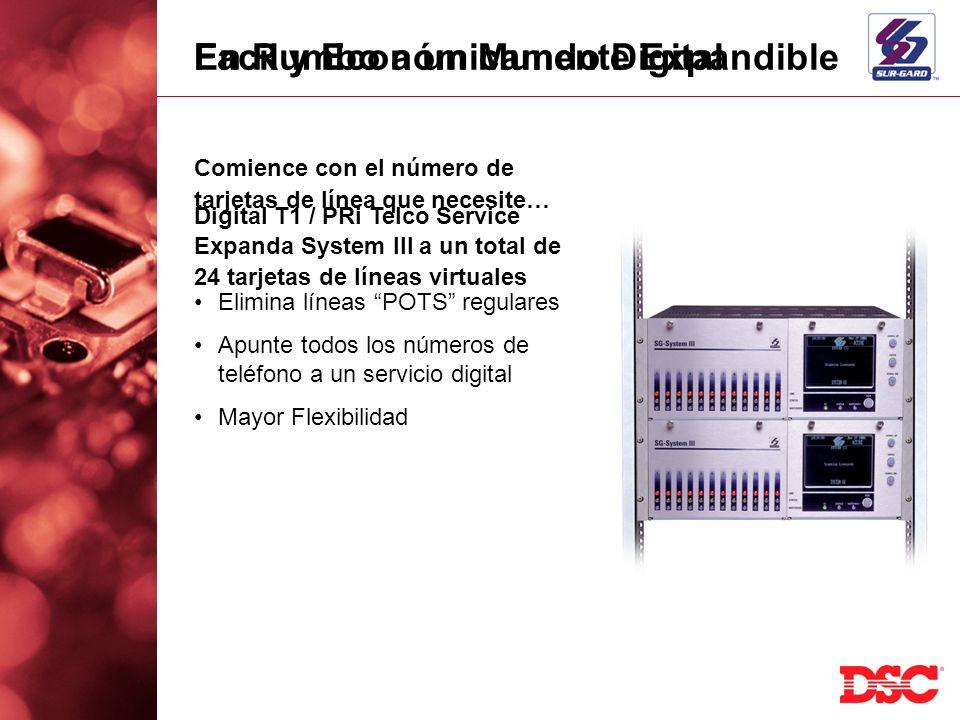 Facil y Económicamente Expandible Comience con el número de tarjetas de línea que necesite… Expanda System III a un total de 24 tarjetas de líneas vir