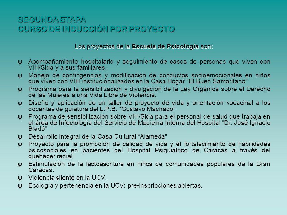 Los proyectos de la Escuela de Psicologíason: Los proyectos de la Escuela de Psicología son: ψAcompañamiento hospitalario y seguimiento de casos de pe