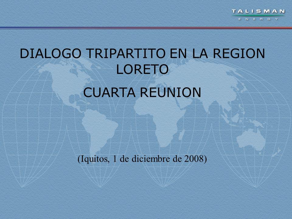 DIALOGO TRIPARTITO EN LA REGION LORETO CUARTA REUNION (Iquitos, 1 de diciembre de 2008)