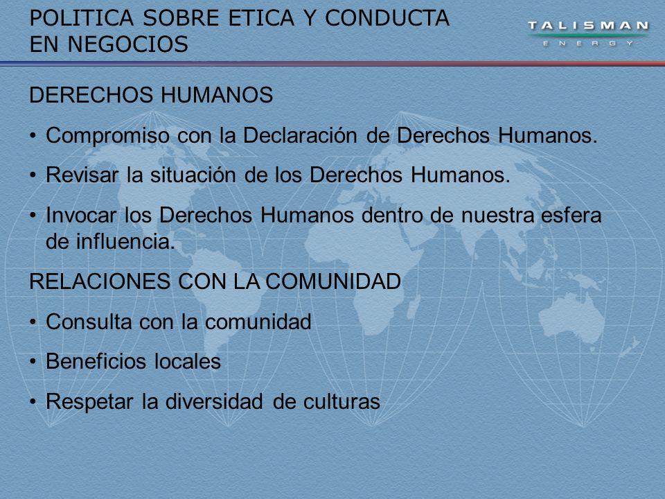 DERECHOS HUMANOS Compromiso con la Declaración de Derechos Humanos.