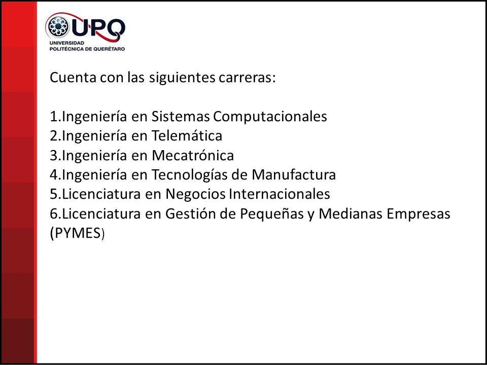 Cuenta con las siguientes carreras: 1.Ingeniería en Sistemas Computacionales 2.Ingeniería en Telemática 3.Ingeniería en Mecatrónica 4.Ingeniería en Te