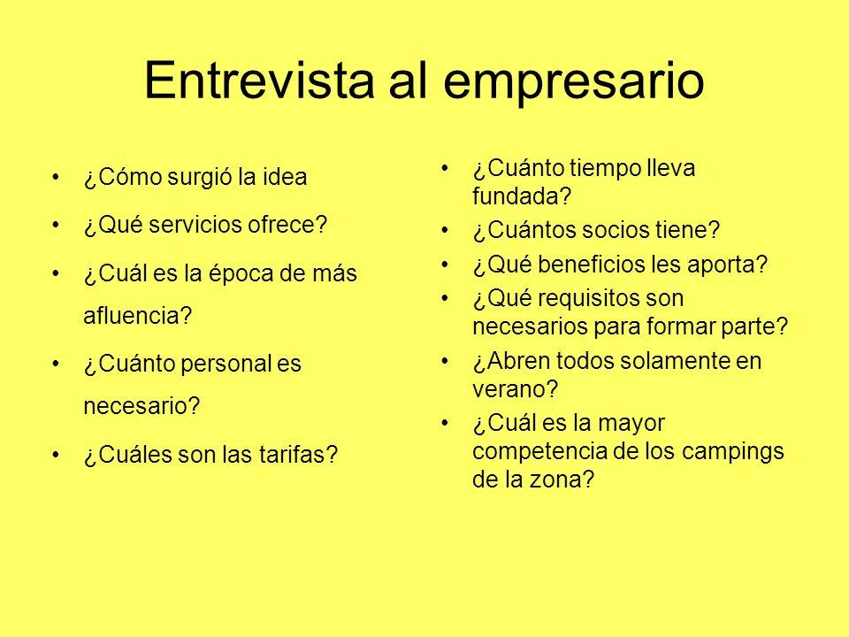 Entrevista al empresario ¿Cómo surgió la idea ¿Qué servicios ofrece.