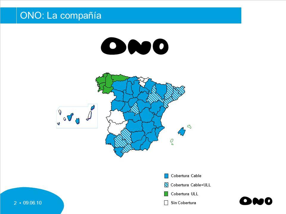 09.06.10 2 ONO: La compañía Cobertura Cable+ULL Cobertura Cable Cobertura ULL Sin Cobertura